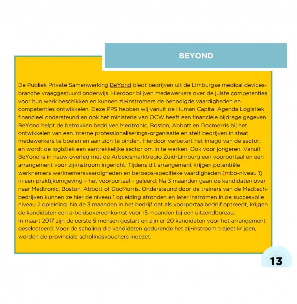 beyond, medtech, voortgangsrapportage, medische logistiek